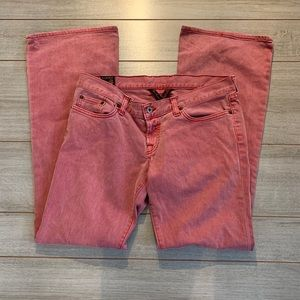 Lucky Brand Faded Red Denim Jeans Bootcut 12
